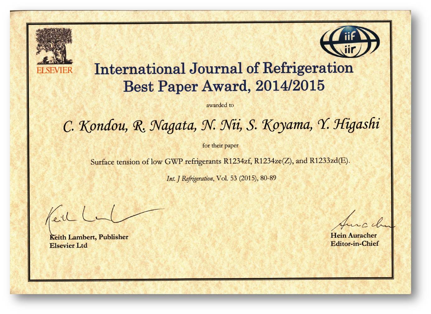 Refrigeration International Journal Of Tyler Wiring Diagrams Images