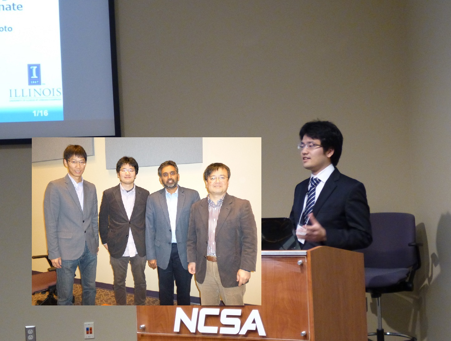 Fujisaki(D1) took part in the PIRE program between Kyushu University and University of Illinois as exchanging student.