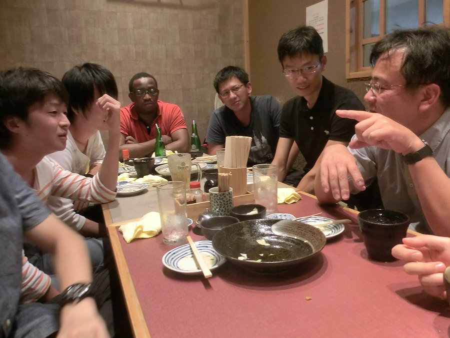 "We enjoyed ""Dr Yuhang Jing's welcome part"" & ""Wrap up party for graduate school entrance examination""."