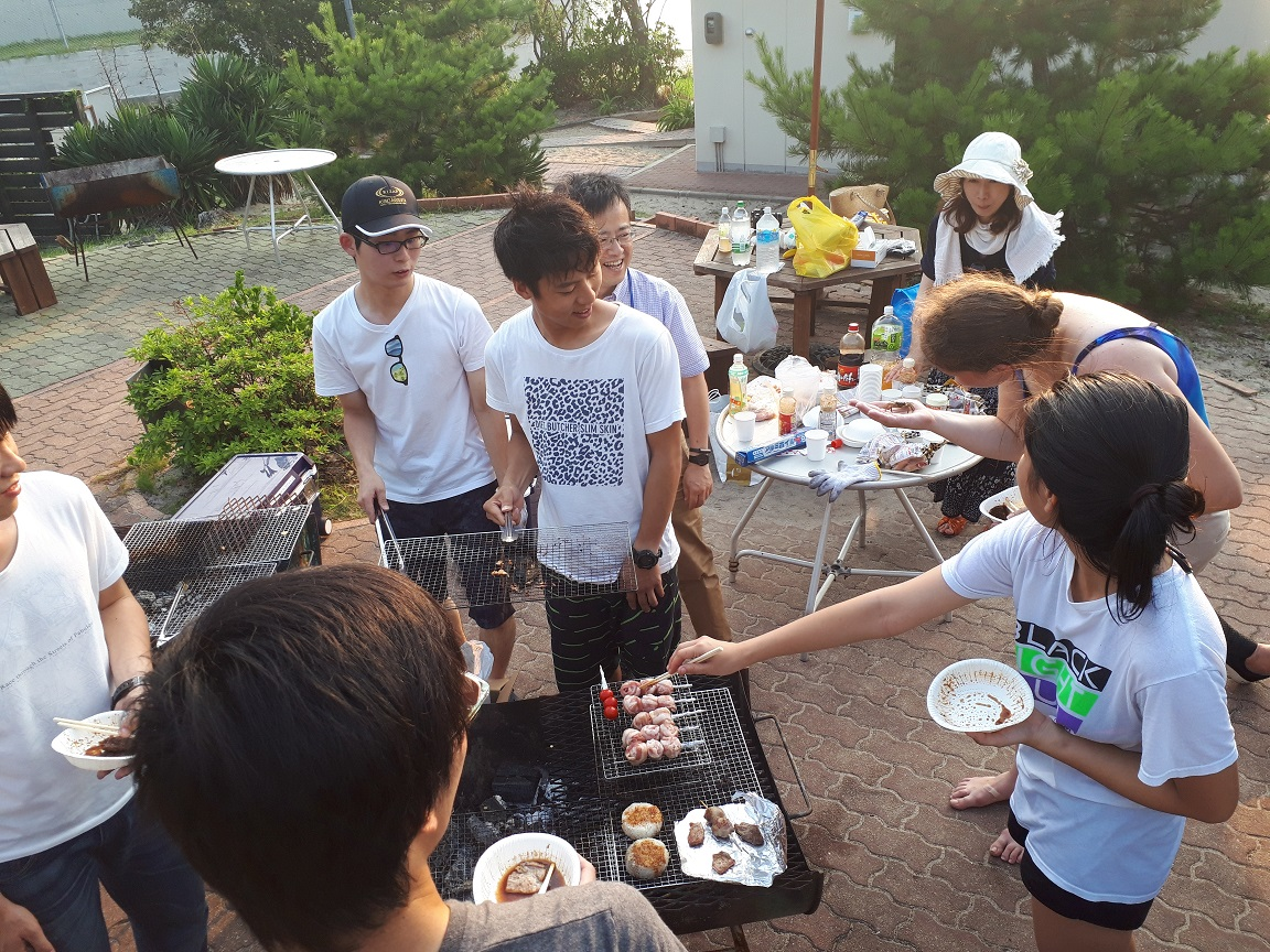 BBQ party for B4 members.